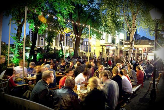 Beer garden i Camden