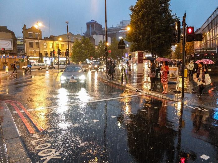 Ett regnigt London