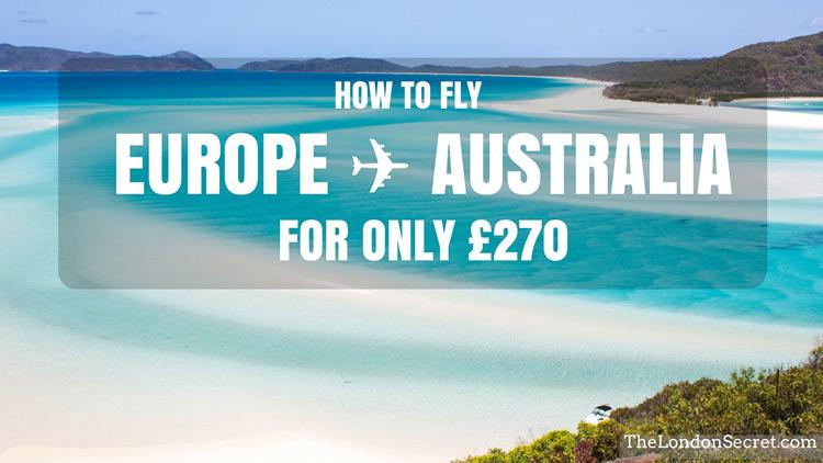 Fly Australia ↔ Sweden for only £270