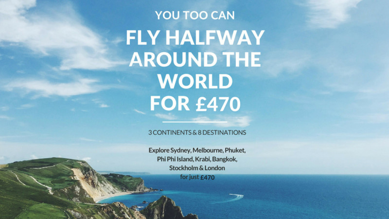 How to fly halfway around the world for £470